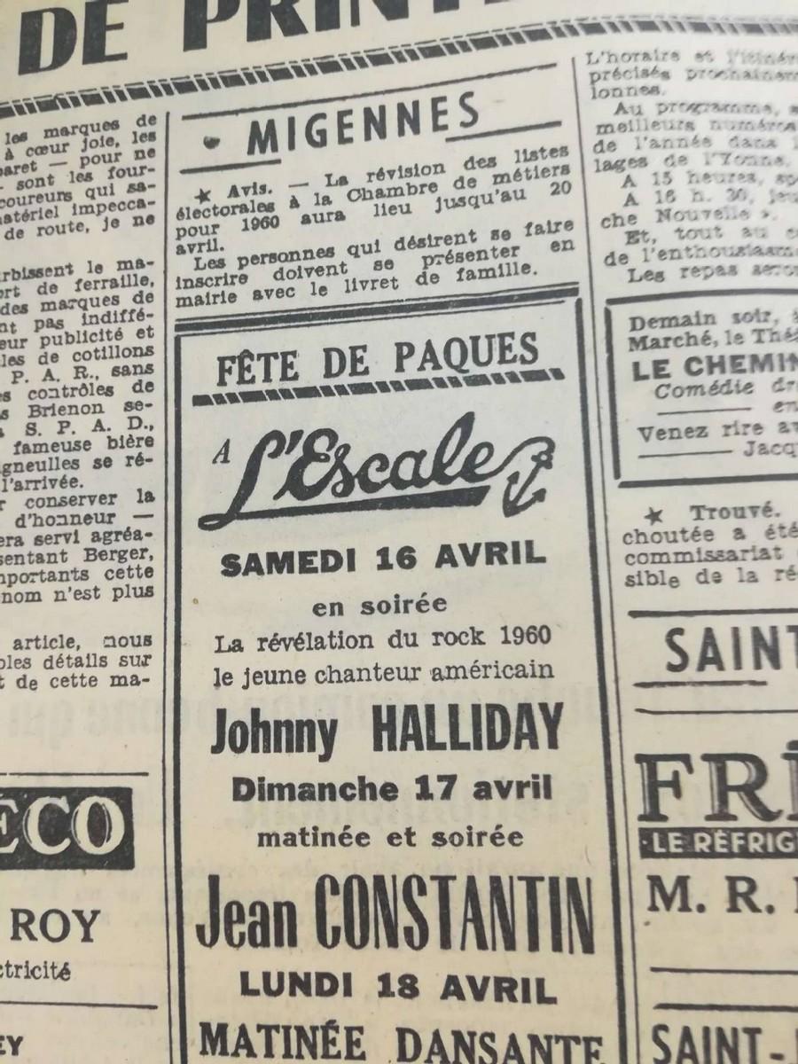 LES CONCERTS DE JOHNNY 'MIGENNES 1960' Sans_511