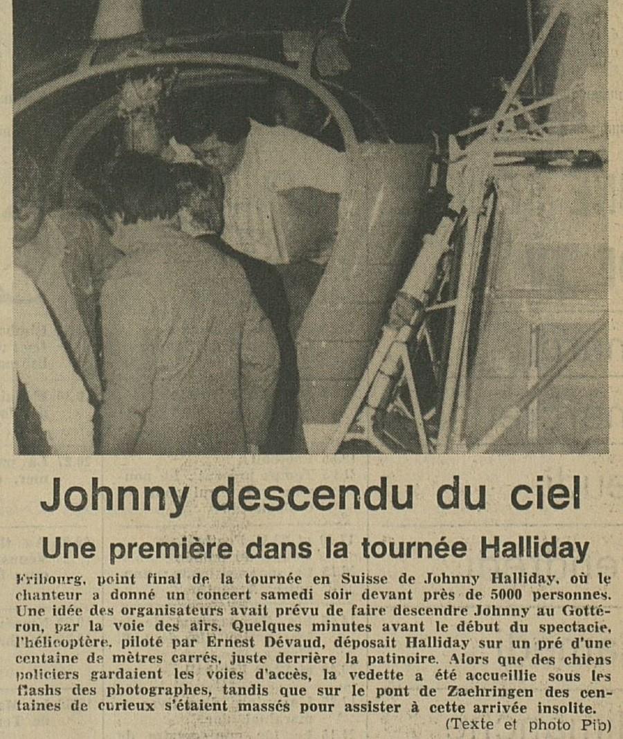 LES CONCERTS DE JOHNNY 'FRIBOURG, SUISSE 1978' Sans_731