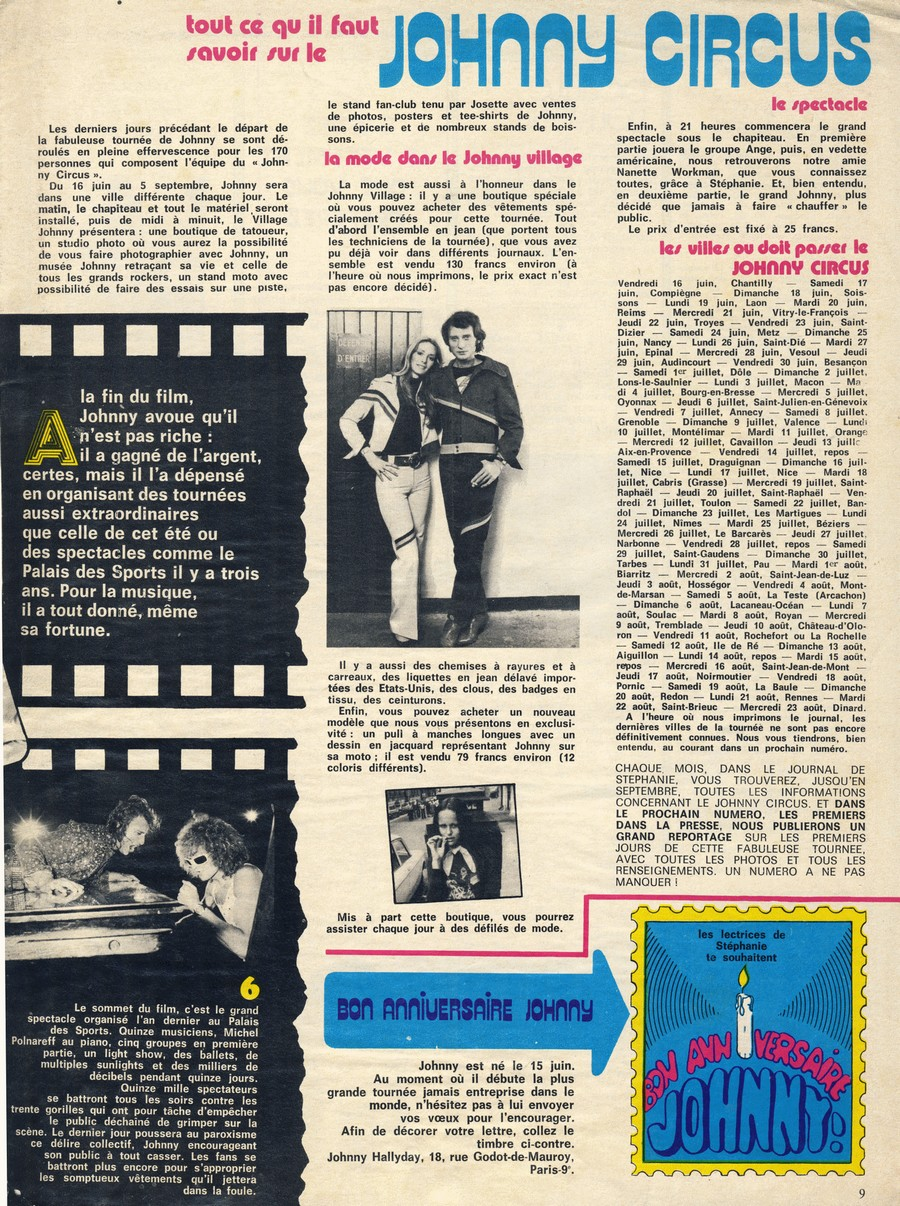 LES CONCERTS DE JOHNNY 'TOURNEE JOHNNY CIRCUS 1972' Sans_735