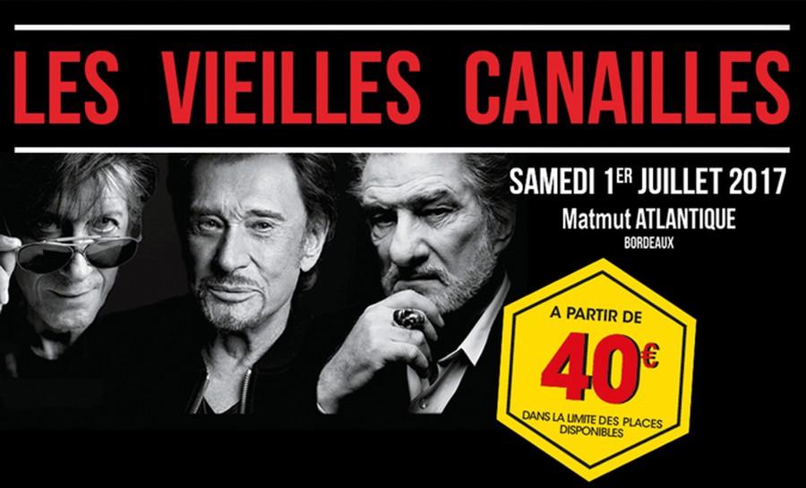 LES CONCERTS DE JOHNNY ' LES VIEILLES CANAILLES - 'BORDEAUX 2017' Sans_740