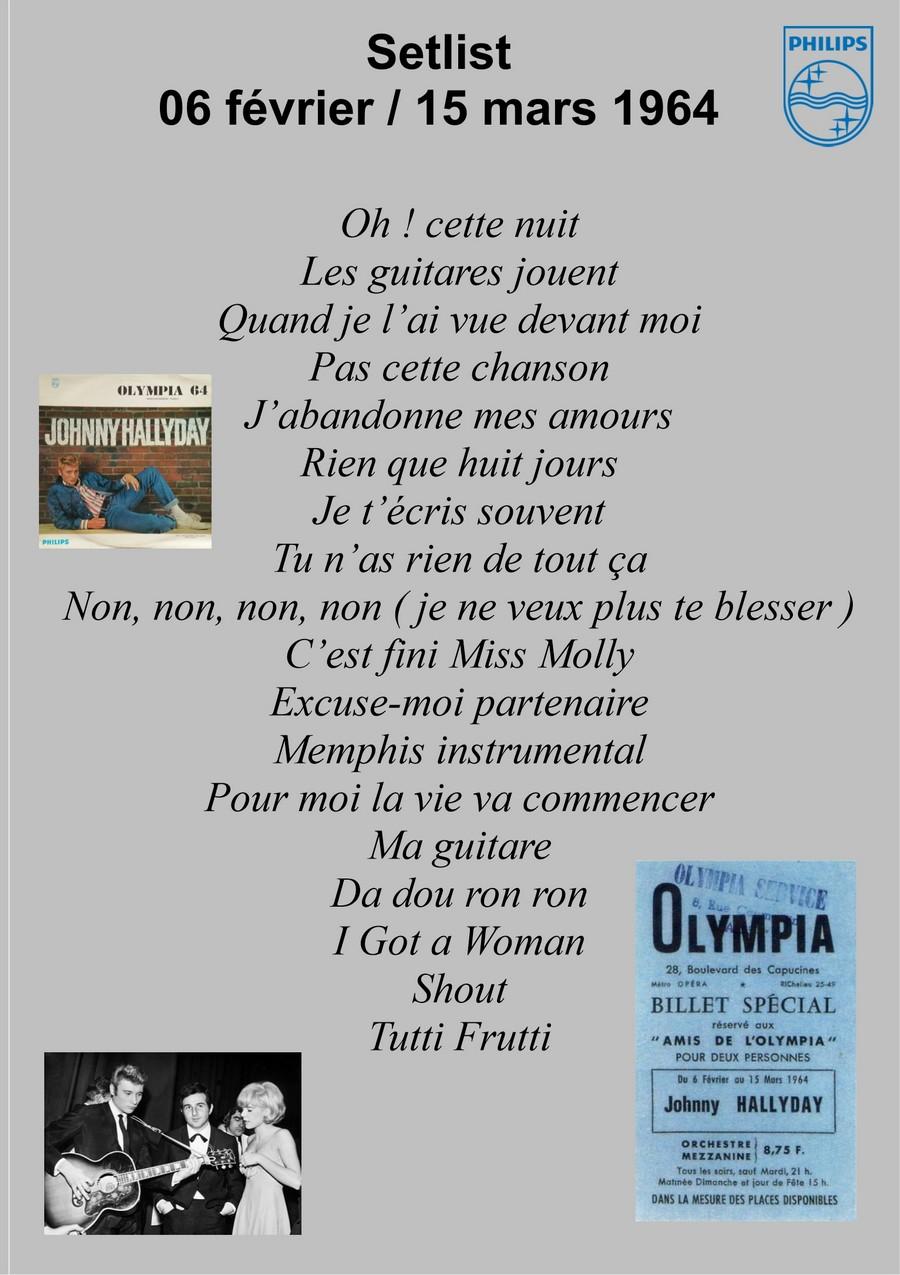 LES CONCERTS DE JOHNNY 'OLYMPIA DE PARIS 1964' Setli126