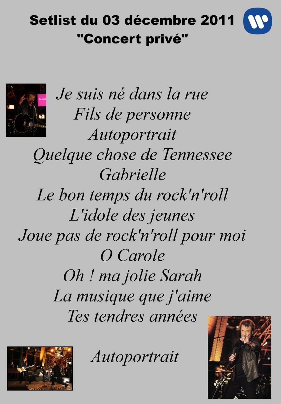 LES CONCERTS DE JOHNNY 'LA TOUR EIFFEL, PARIS 2011' Setli170