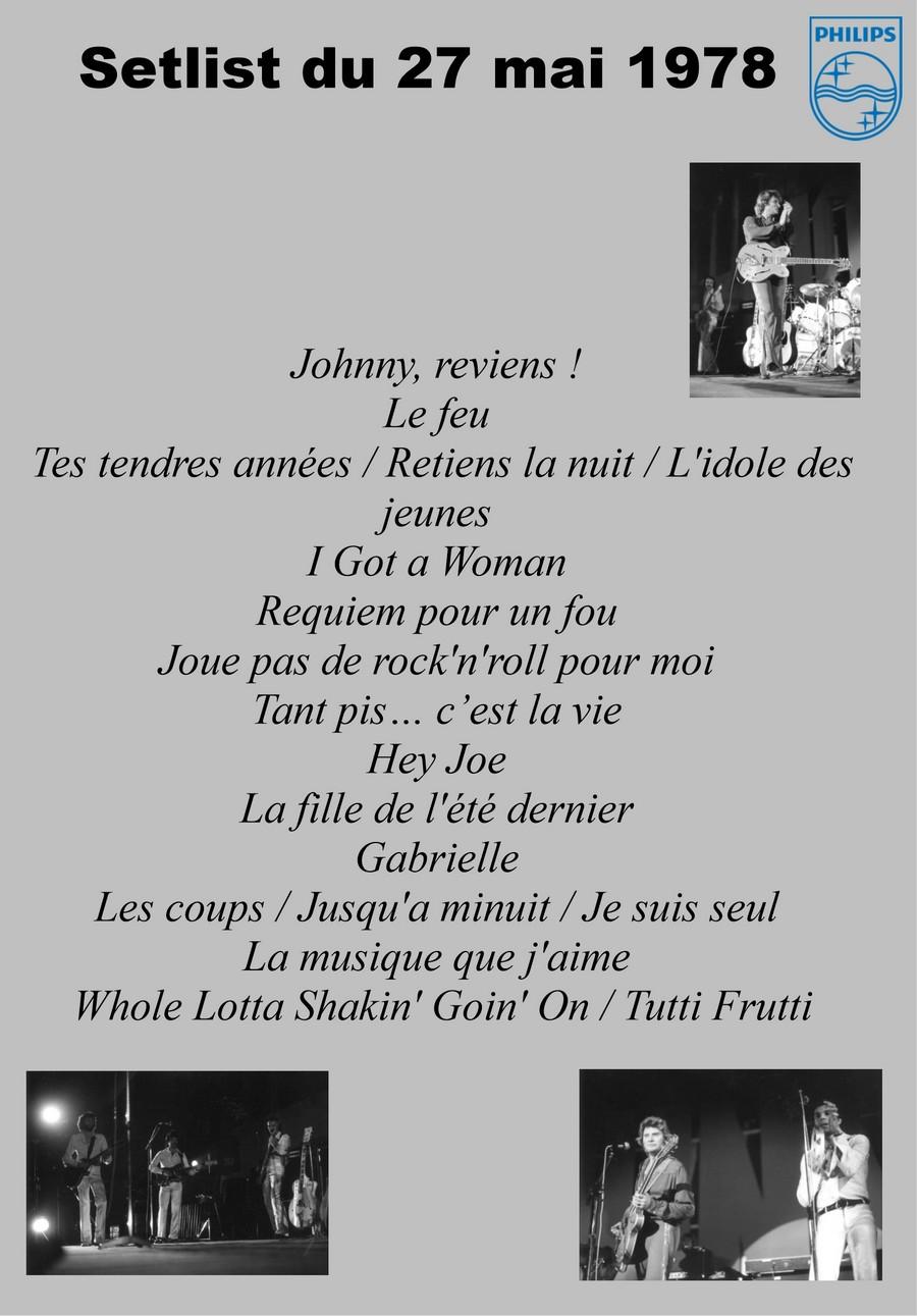 LES CONCERTS DE JOHNNY 'FRIBOURG, SUISSE 1978' Setli182