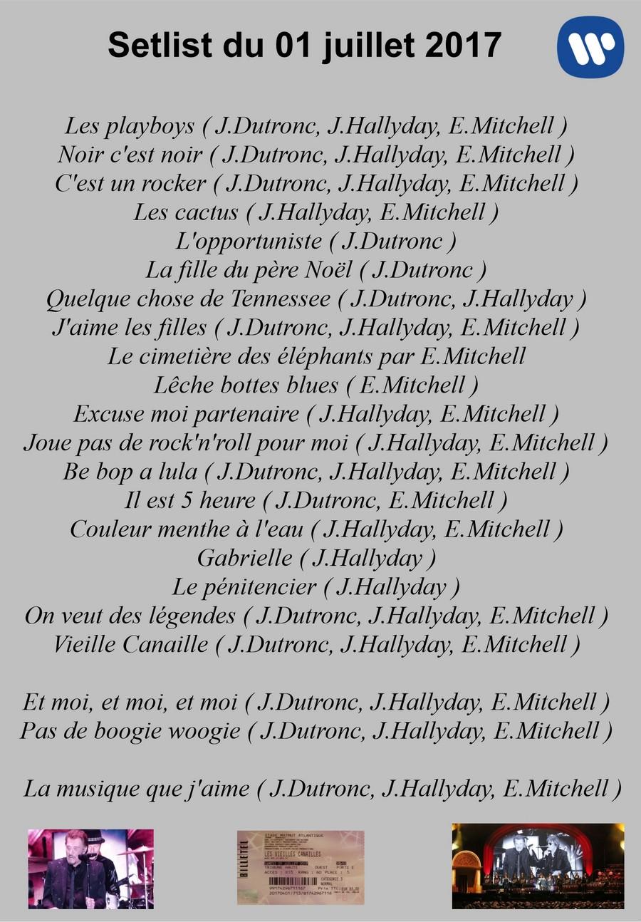 LES CONCERTS DE JOHNNY ' LES VIEILLES CANAILLES - 'BORDEAUX 2017' Setli185