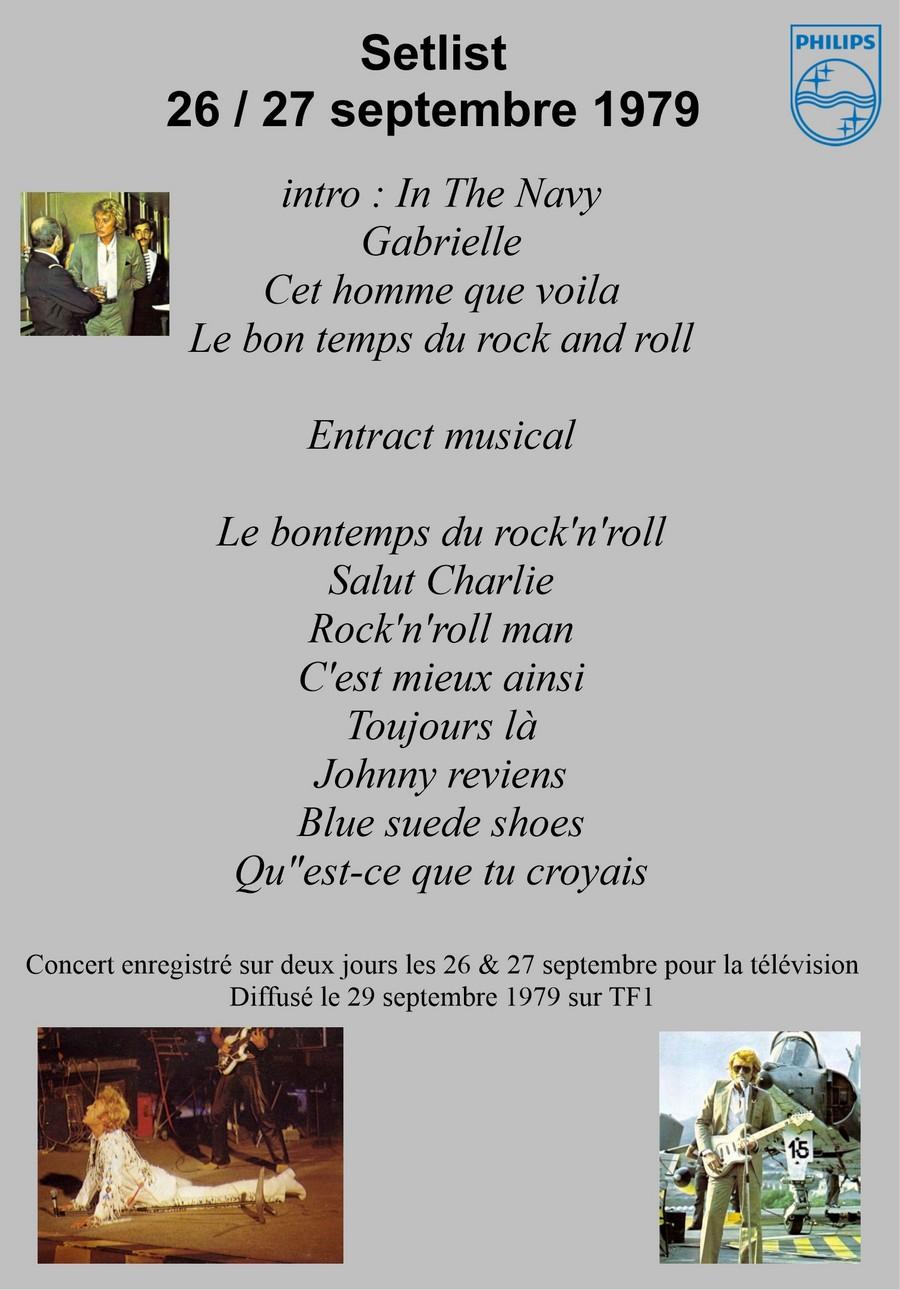 LES CONCERTS DE JOHNNY 'PORTE-AVIONS ''FOCH'', TOULON 1979' Setli193