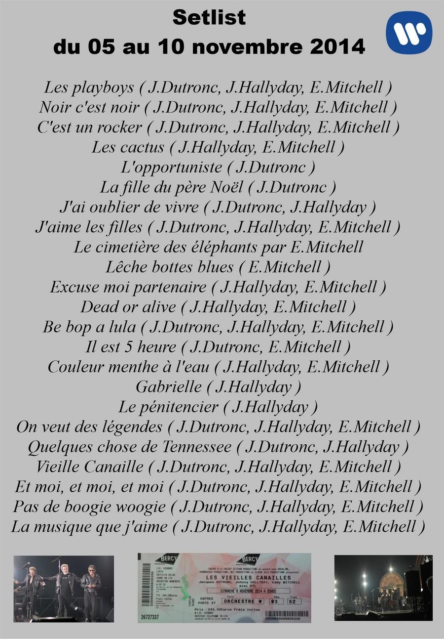 LES CONCERTS DE JOHNNY 'LES VIEILLES CANAILLES - 'PARIS 2014' Setli195