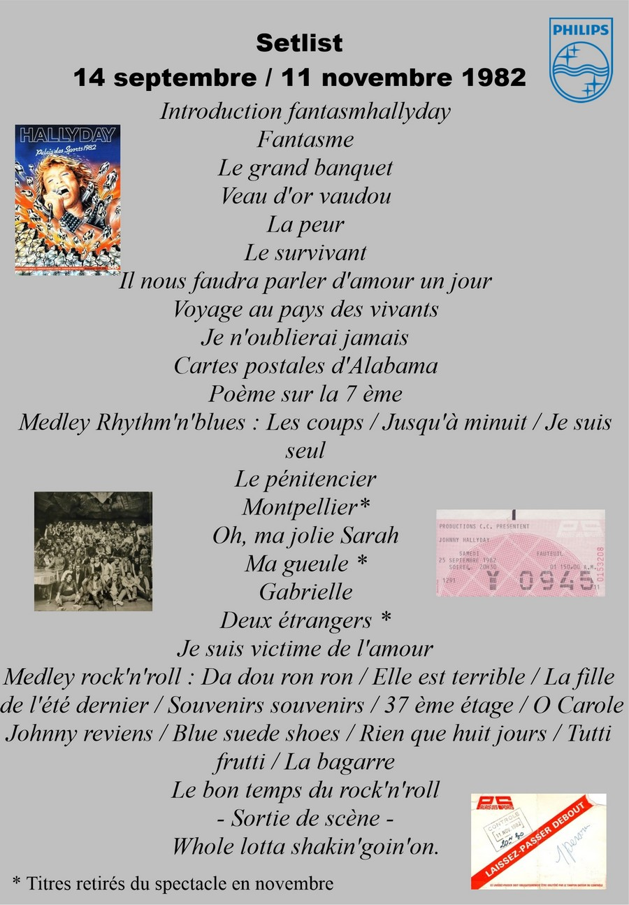 LES CONCERTS DE JOHNNY 'PALAIS DES SPORTS DE PARIS 1982' Setli201