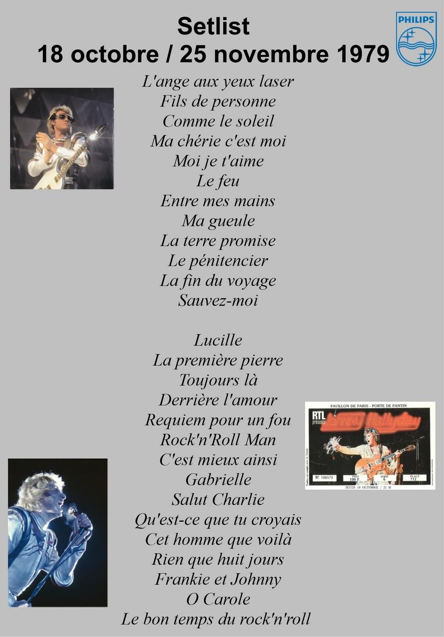 LES CONCERTS DE JOHNNY 'PAVILLON DE PARIS 1979' Setli203