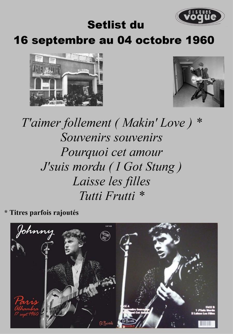 LES CONCERTS DE JOHNNY 'ALHAMBRA DE PARIS 1960' Setli224