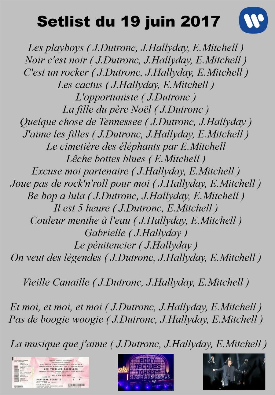 LES CONCERTS DE JOHNNY 'LES VIEILLES CANAILLES - 'STRASBOURG 2017' Setli250
