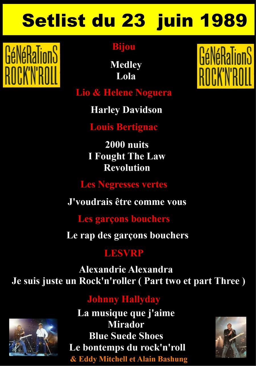 LES CONCERTS DE JOHNNY 'GENERATION ROCK N ROLL, PALAIS DES SPORTS 1989' Setli330