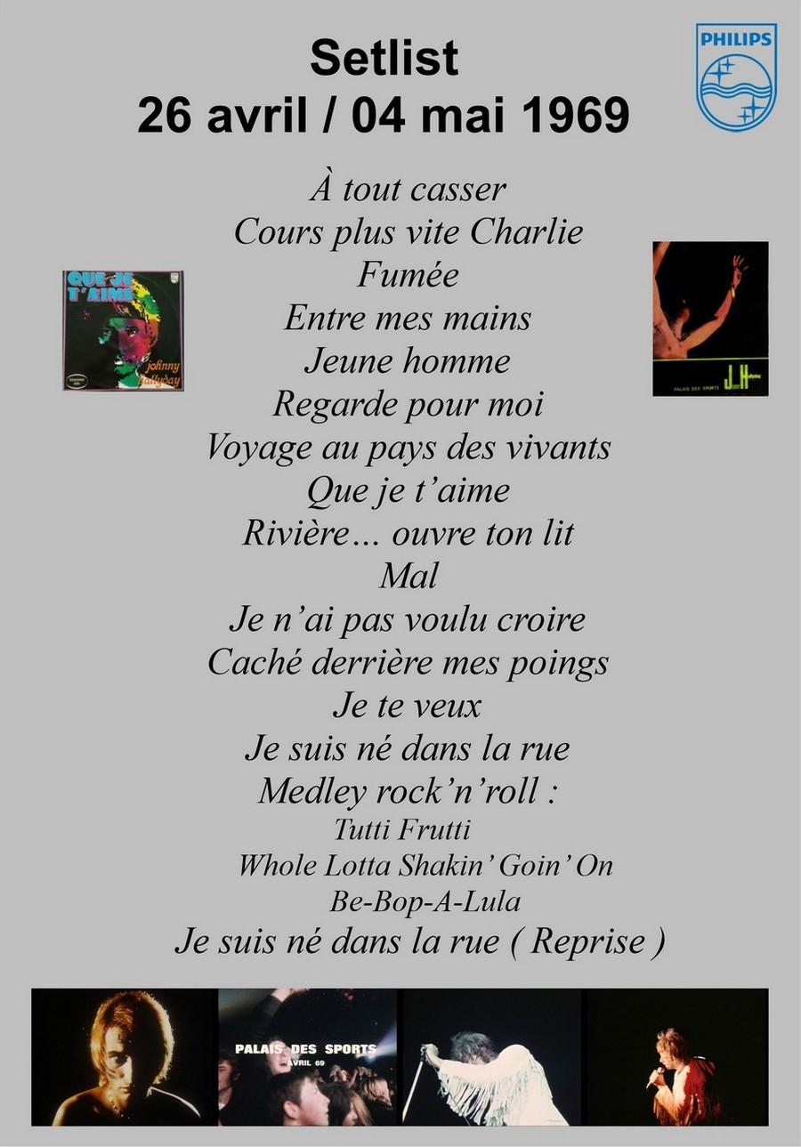 LES CONCERTS DE JOHNNY 'PALAIS DES SPORTS DE PARIS 1969' Setli334