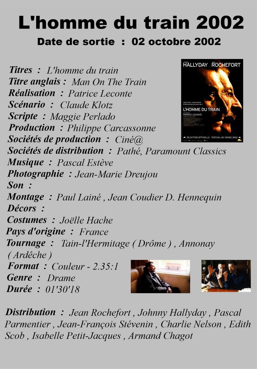 LES FILMS DE JOHNNY 'L'HOMME DU TRAIN' 2002 Setli365