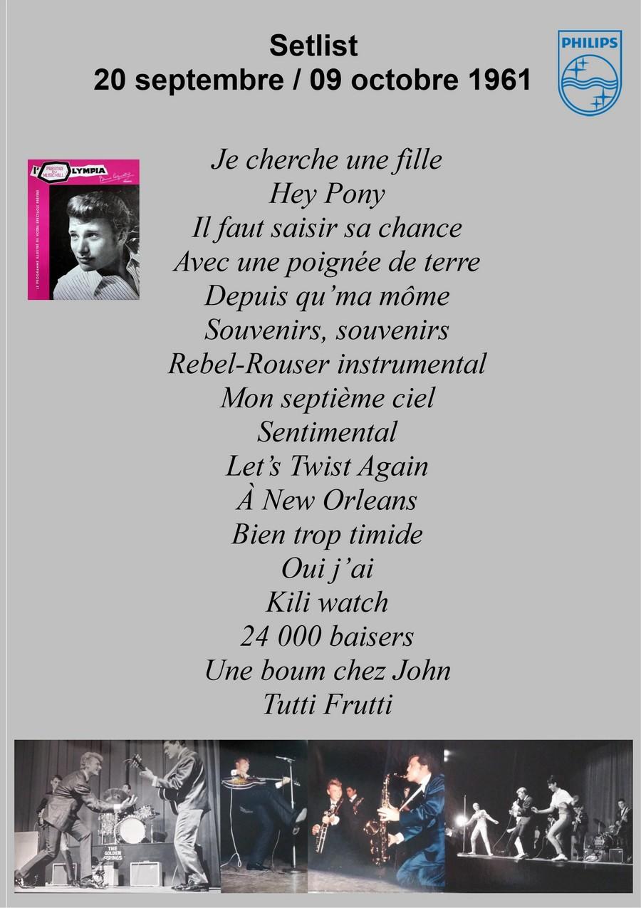 LES CONCERTS DE JOHNNY 'OLYMPIA 1961' Setlis19