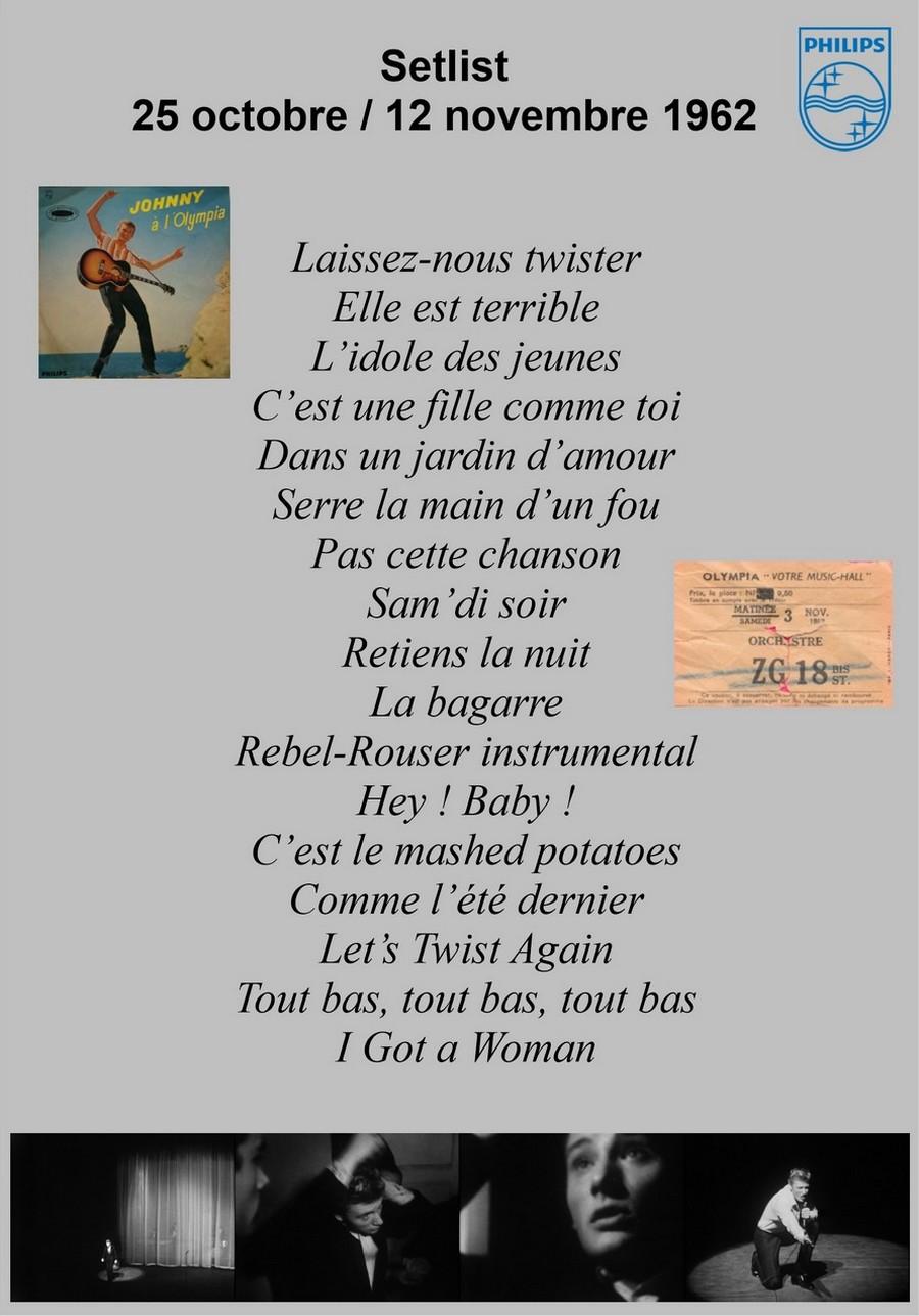 LES CONCERTS DE JOHNNY 'OLYMPIA DE PARIS 1962' Setlis21