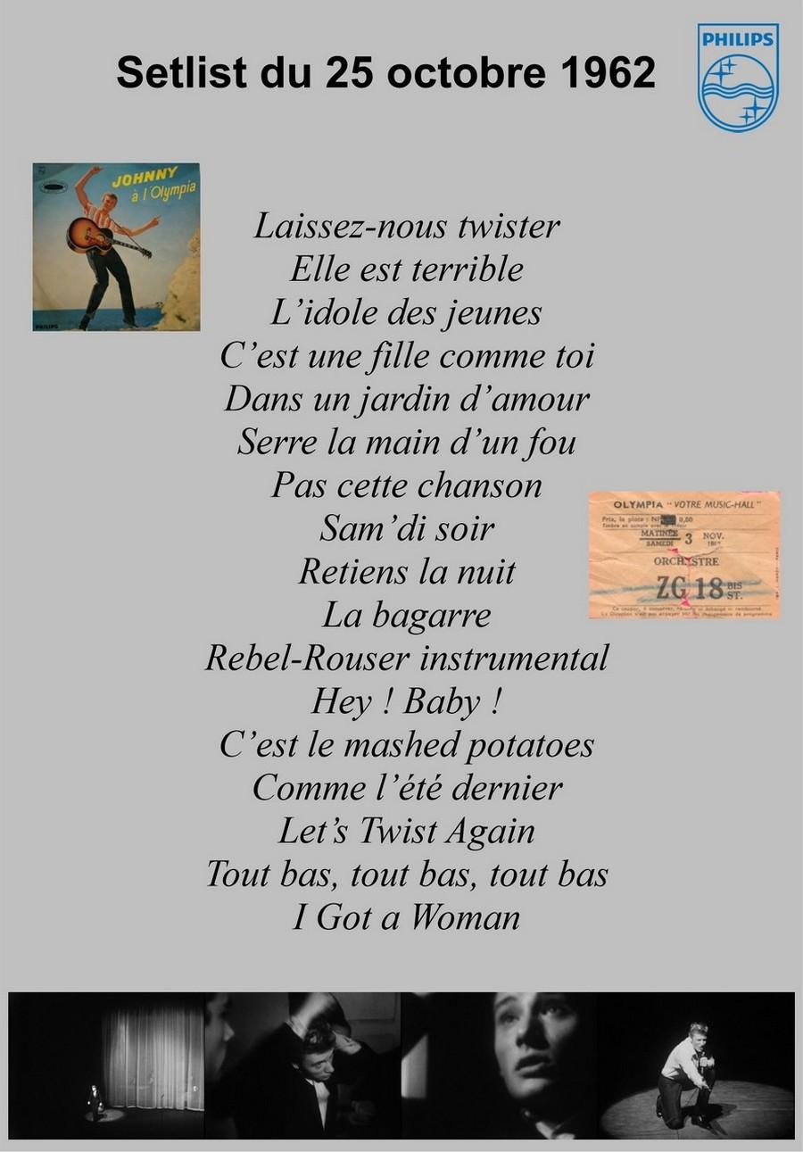 LES CONCERTS DE JOHNNY 'OLYMPIA DE PARIS 1962' Setlis22