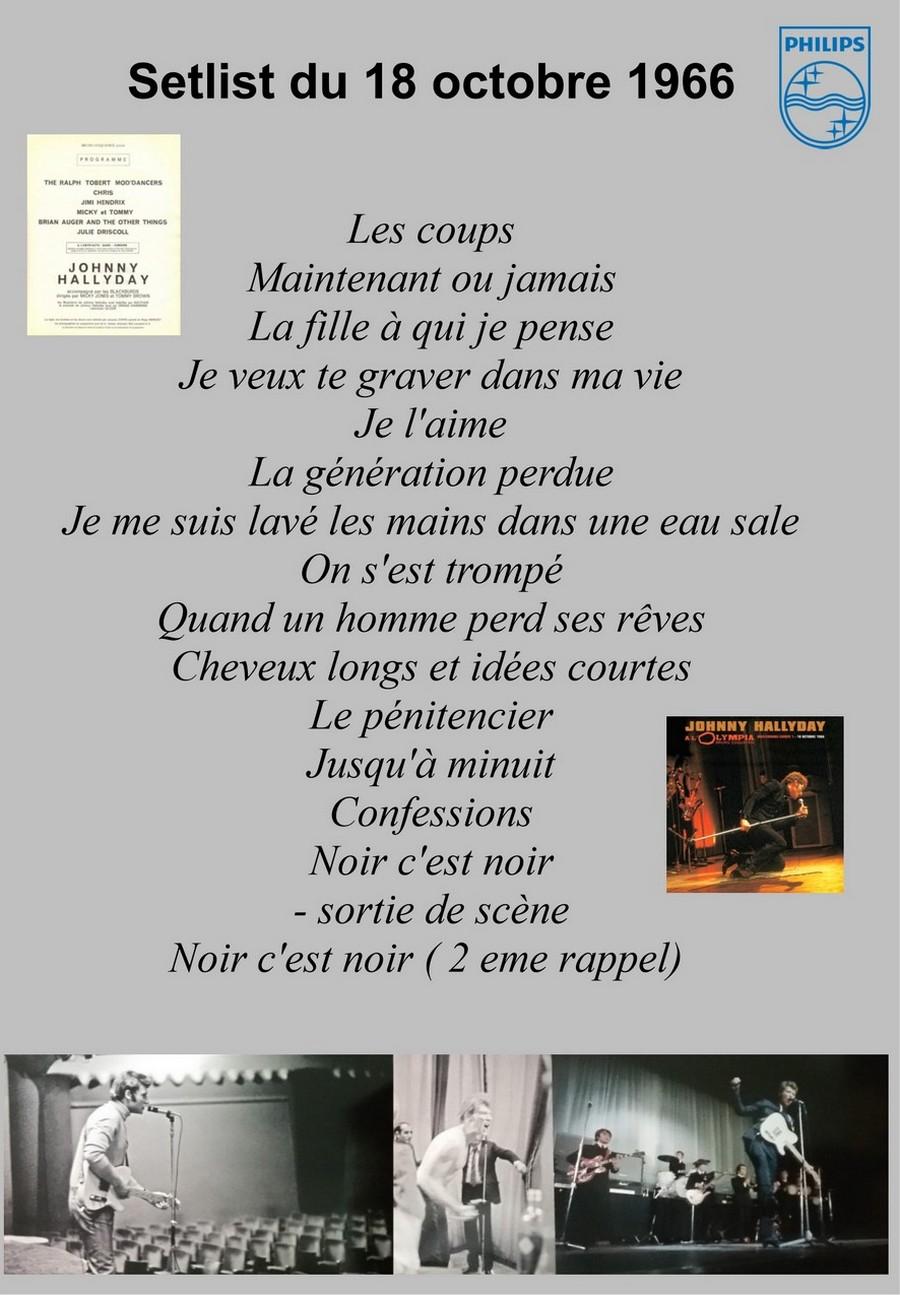 LES CONCERTS DE JOHNNY 'OLYMPIA DE PARIS 1966' Setlis25