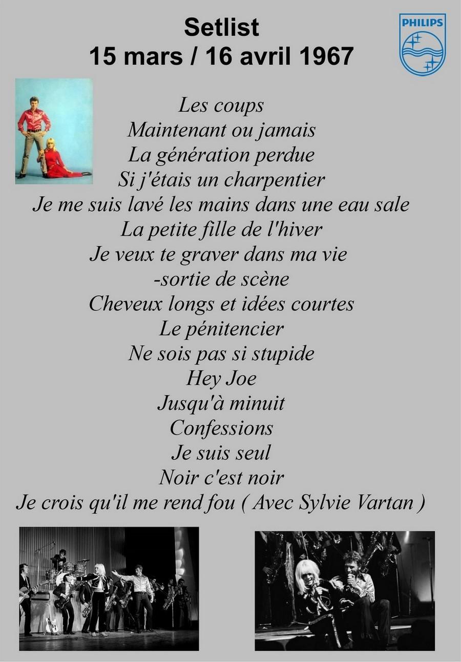 LES CONCERTS DE JOHNNY 'OLYMPIA DE PARIS 1967' Setlis26