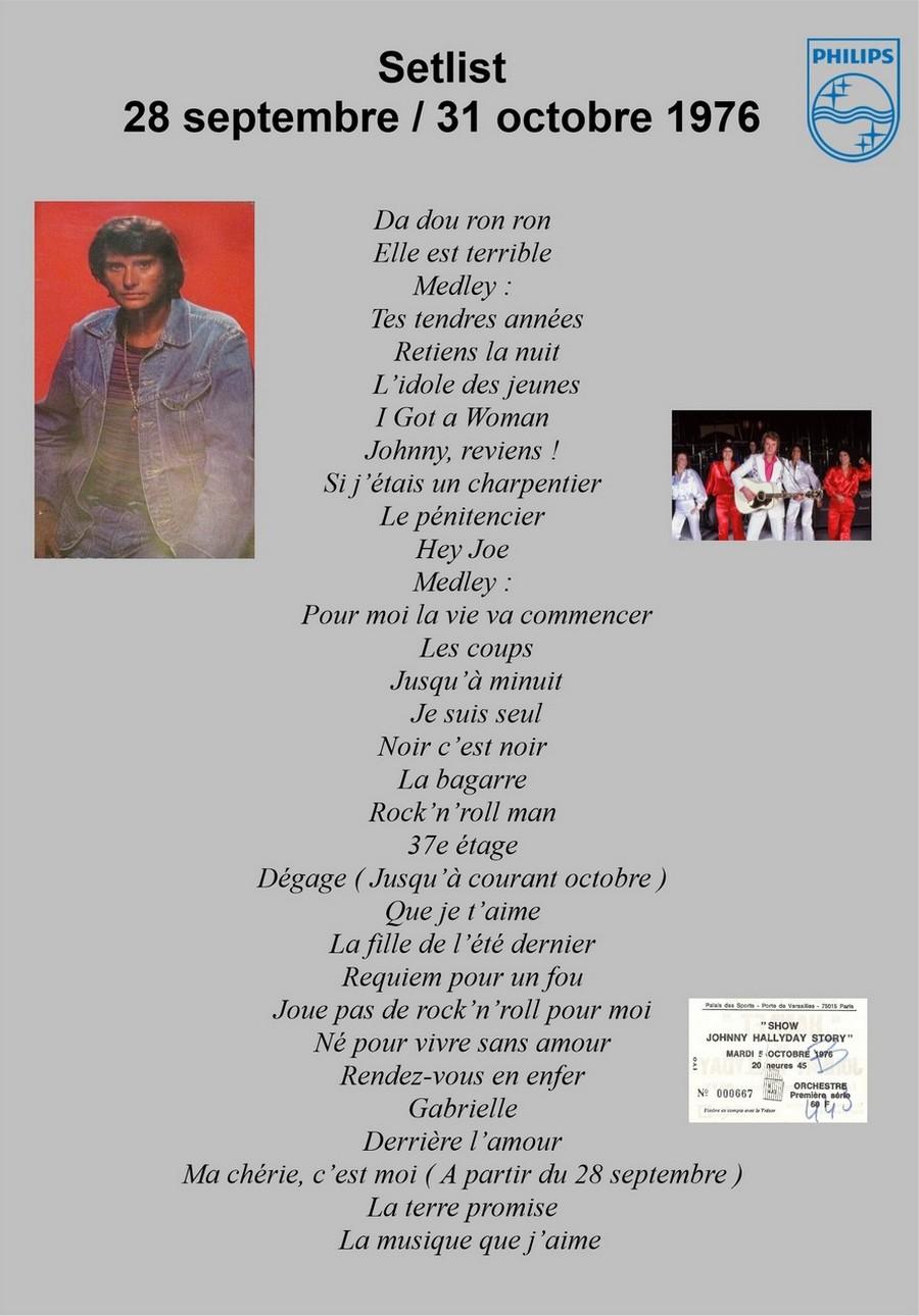 LES CONCERTS DE JOHNNY 'PALAIS DES SPORTS DE PARIS 1976' Setlis43