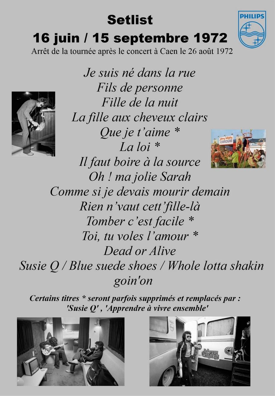 LES CONCERTS DE JOHNNY 'TOURNEE JOHNNY CIRCUS 1972' Setlis48