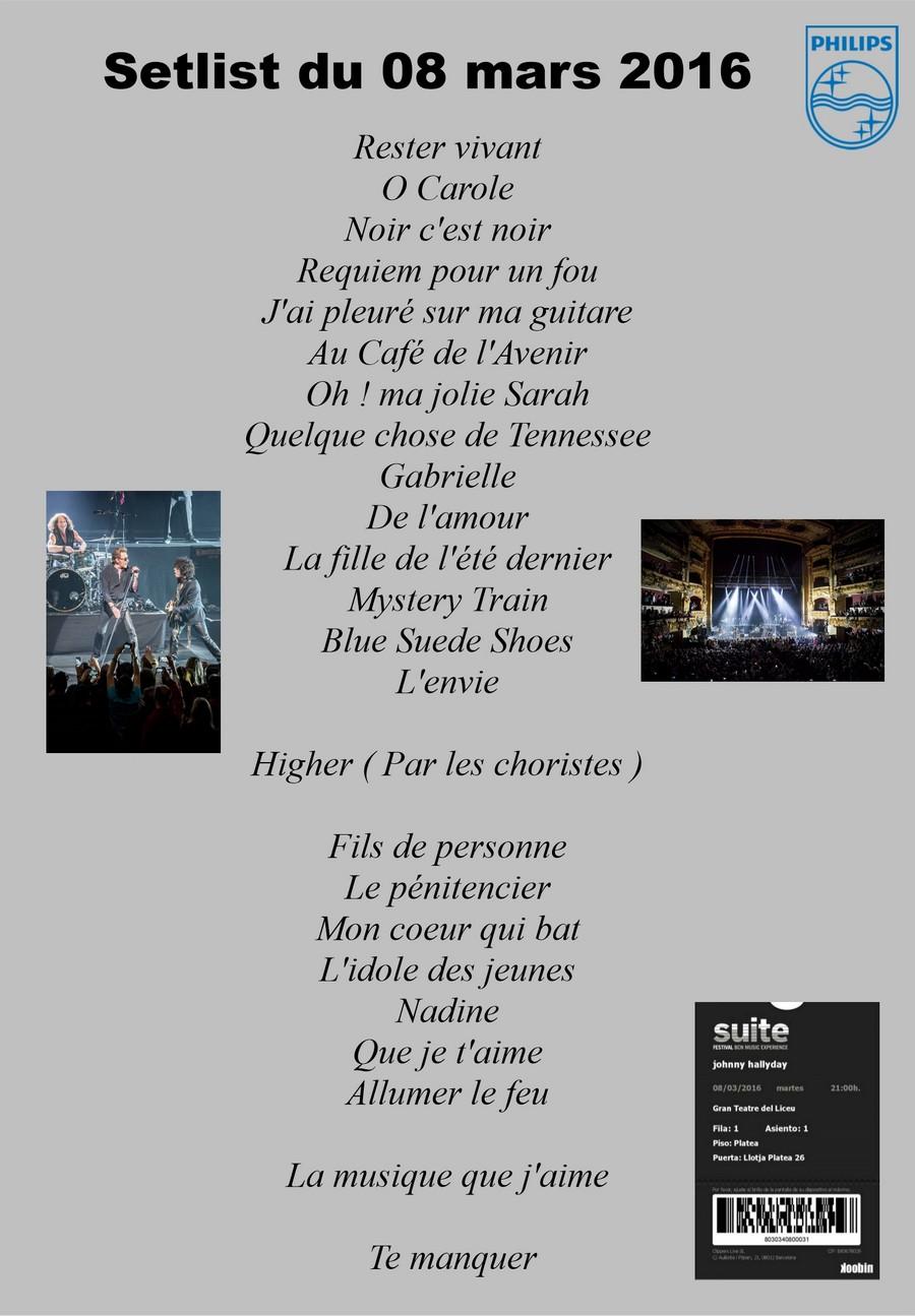 LES CONCERTS DE JOHNNY 'BARCELONE 2016' Setlis91