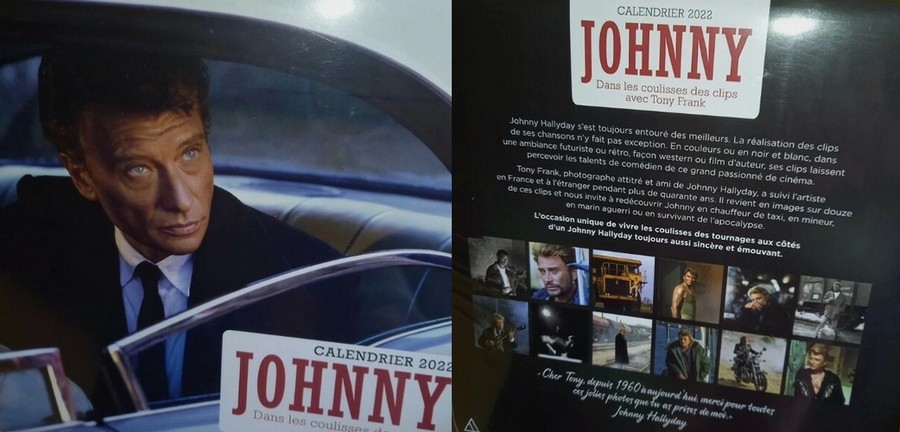 Calendrier mural 2022 - JOHNNY  Dans les coulisses des clips avec Tony Frank  Tln210