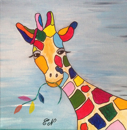Acryliques  - Page 2 Girafe10
