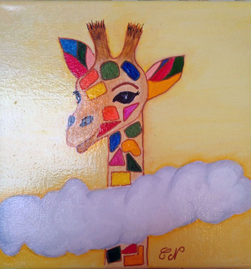 Acryliques  - Page 2 Girafe11