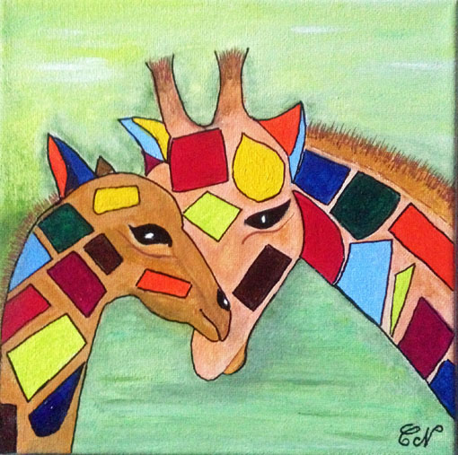 Acryliques  - Page 2 Girafe12