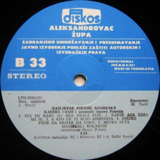 Kadira Cano Ahmedagic - Diskografija R-284417