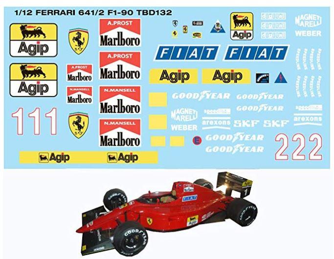 FERRARI F190 Alain Prost 1990, Tamiya 1/12 Captur16