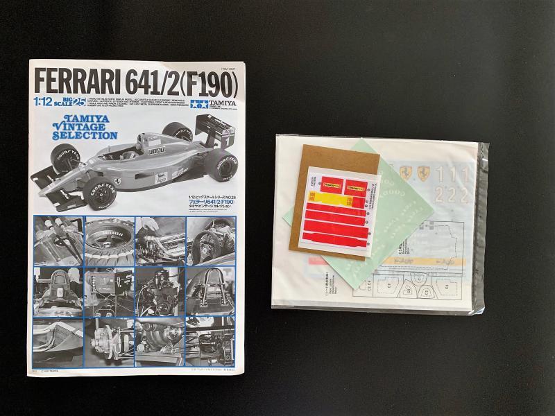 FERRARI F190 Alain Prost 1990, Tamiya 1/12 Mini_k41