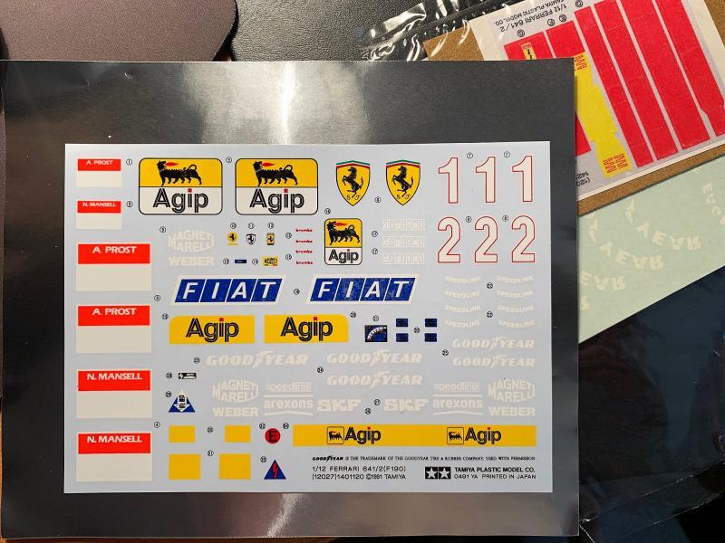FERRARI F190 Alain Prost 1990, Tamiya 1/12 Mini_k42