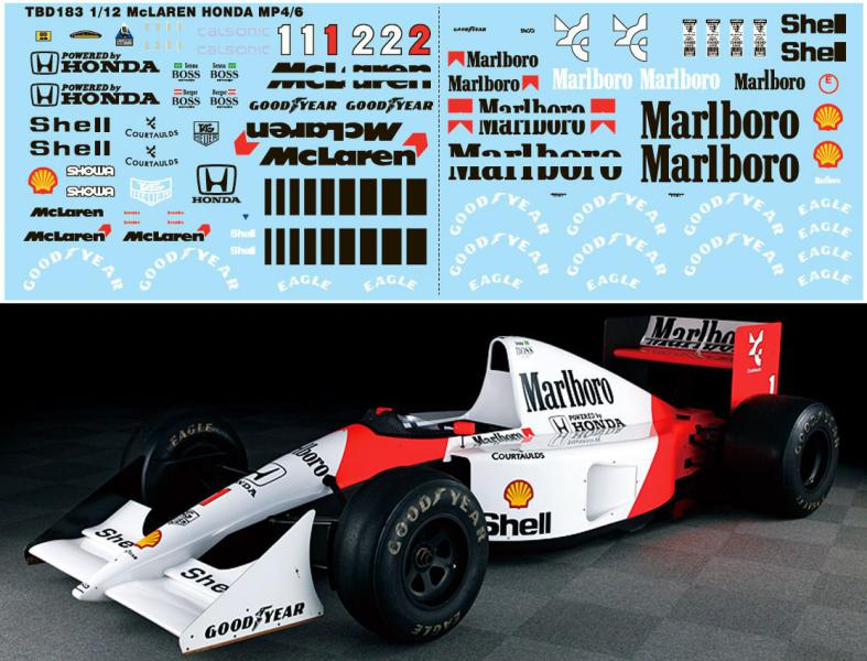 MCLAREN MP4/6 Magic Senna 1991, Tamiya 1/12 Mini_t12