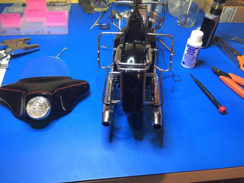 Harley Ultra Classic Electra Glide 1/6 Mini_w32