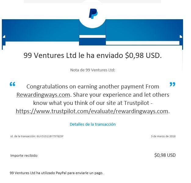 PAGANDO Rewarding Ways mas de  8$ YA GANADOS Reward11