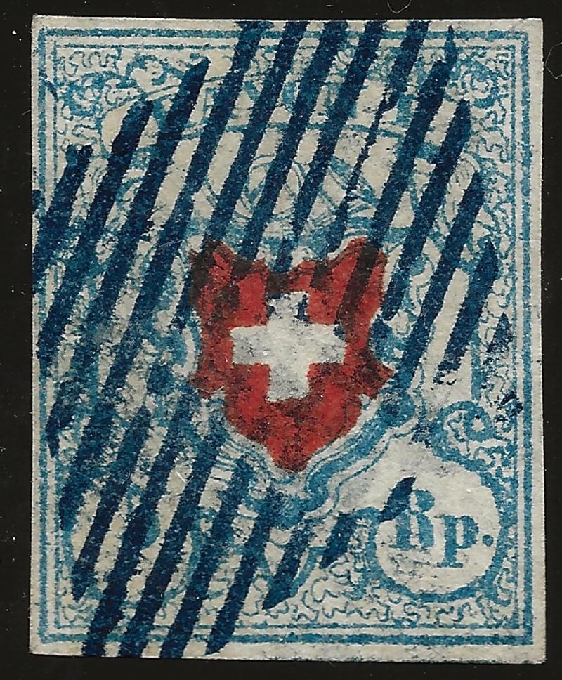 SBK 17II (Mi 9II) Rayon I, hellblau ohne Kreuzeinfassung Image_15