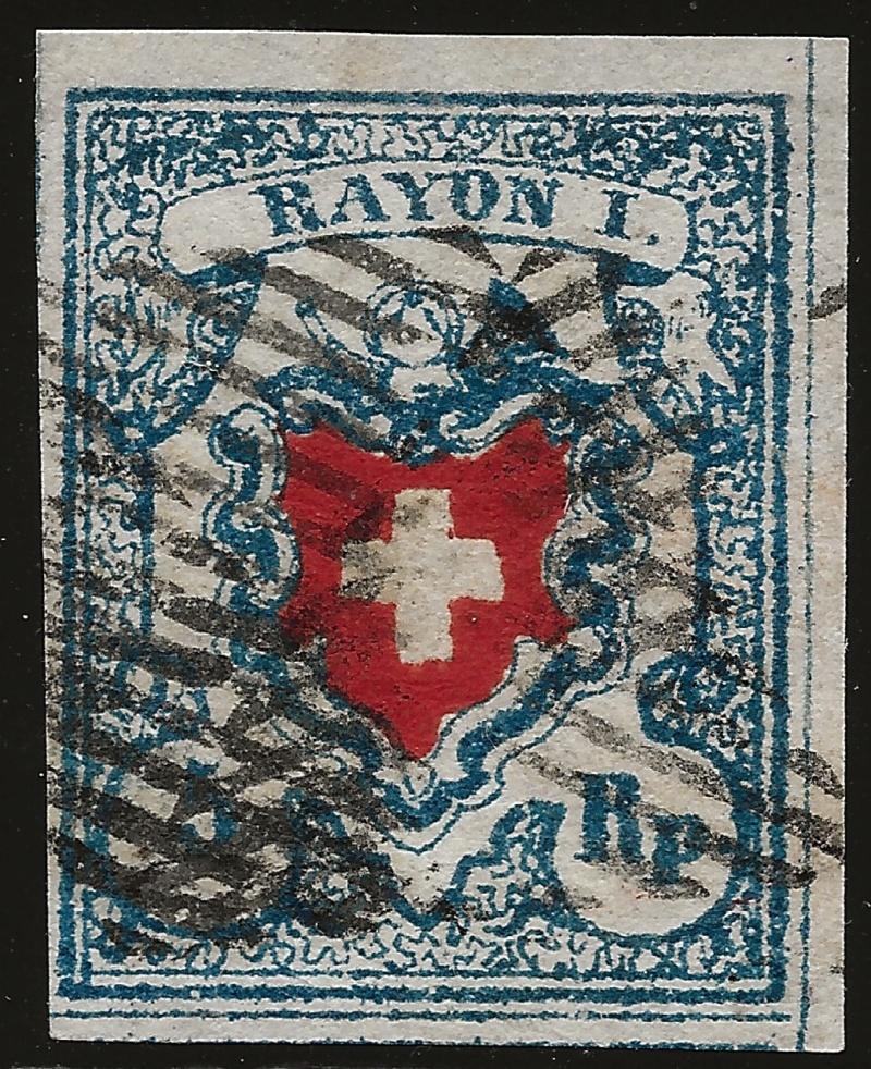 SBK 17II (Mi 9II) Rayon I, hellblau ohne Kreuzeinfassung Image_16