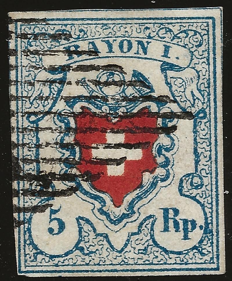 SBK 17II (Mi 9II) Rayon I, hellblau ohne Kreuzeinfassung Image_17