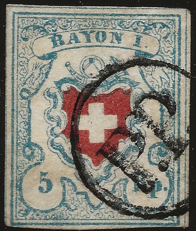 SBK 17II (Mi 9II) Rayon I, hellblau ohne Kreuzeinfassung Image_18