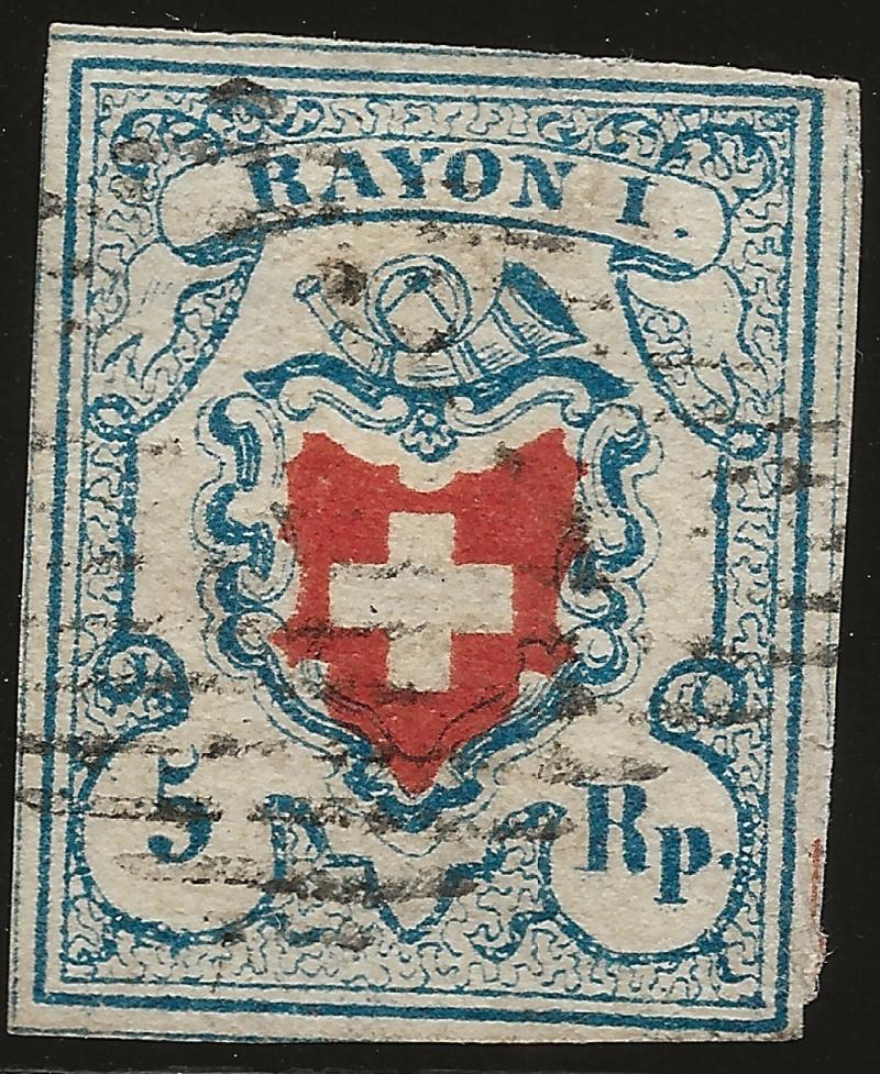 SBK 17II (Mi 9II) Rayon I, hellblau ohne Kreuzeinfassung Image_19