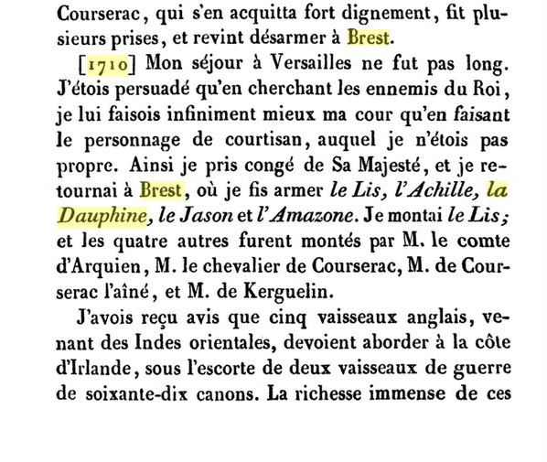 Le vaisseau « La Dauphine » en 1710 B10