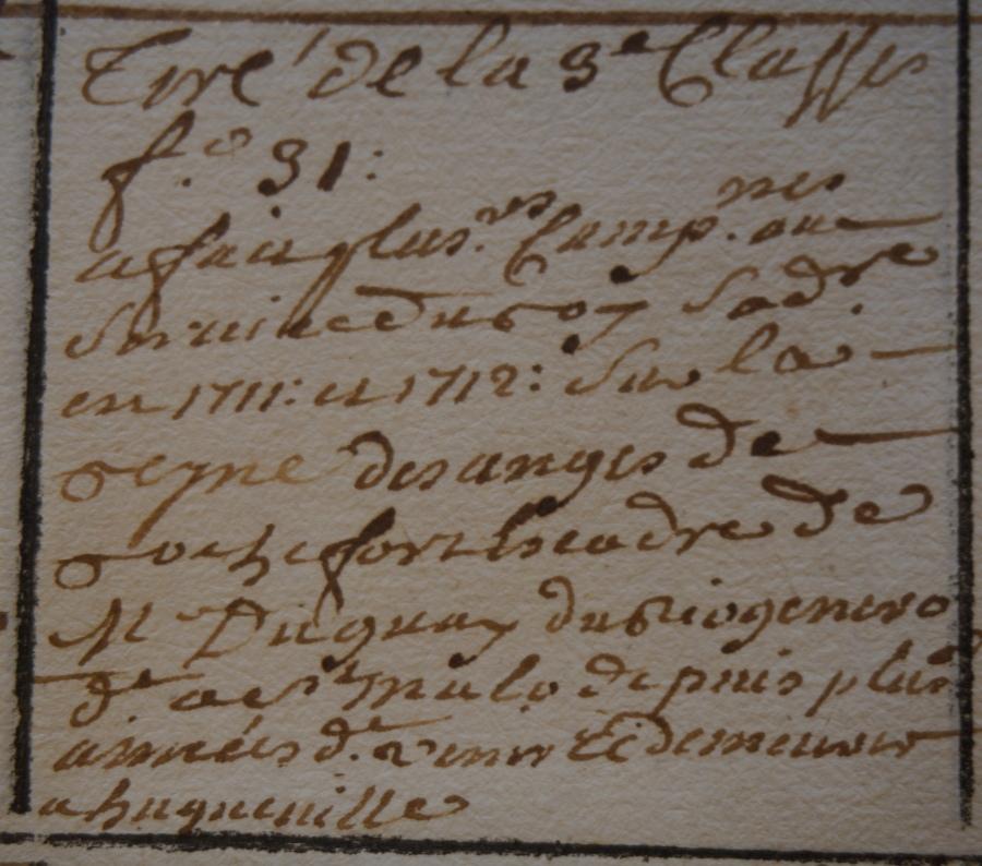 Le vaisseau « La Dauphine » en 1710 D1011