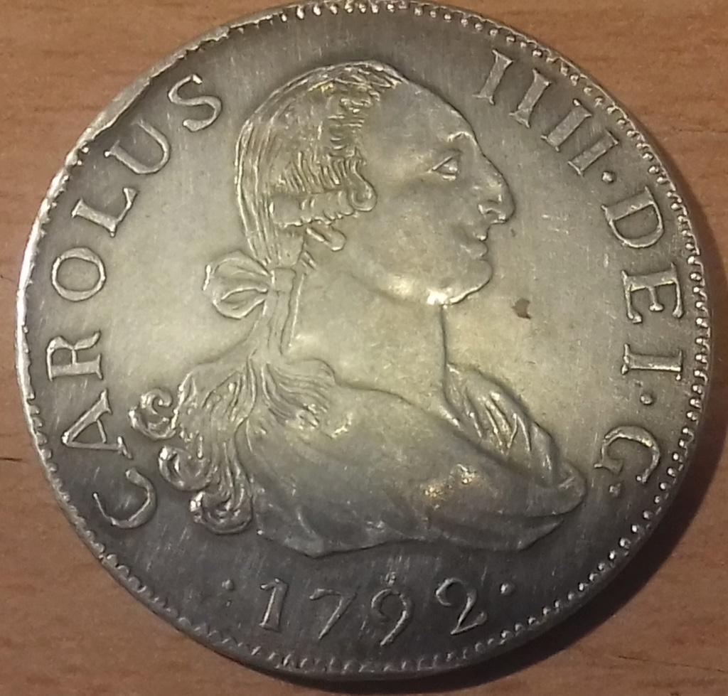 8 Reales 1792. Carlos IV. 1792 20181227