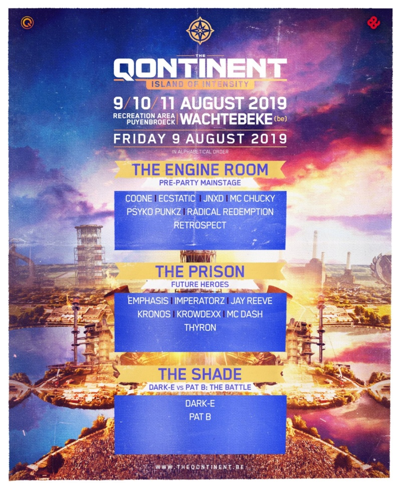 THE QONTINENT - 9-10-11 Aout 2019 - Recreation area Puyenbroeck, Wachtebeke - BE 52778910