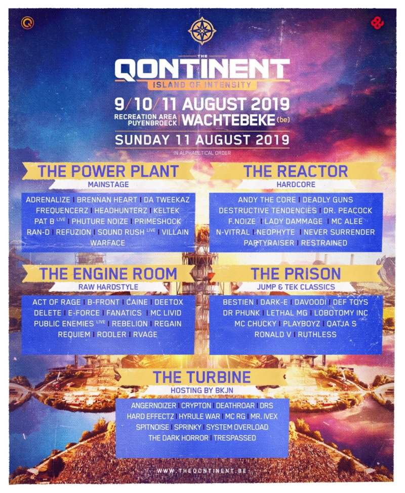 THE QONTINENT - 9-10-11 Aout 2019 - Recreation area Puyenbroeck, Wachtebeke - BE 53081010