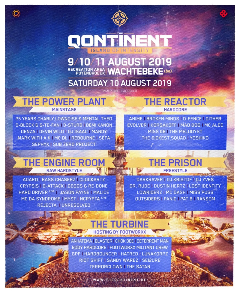 THE QONTINENT - 9-10-11 Aout 2019 - Recreation area Puyenbroeck, Wachtebeke - BE 53609510