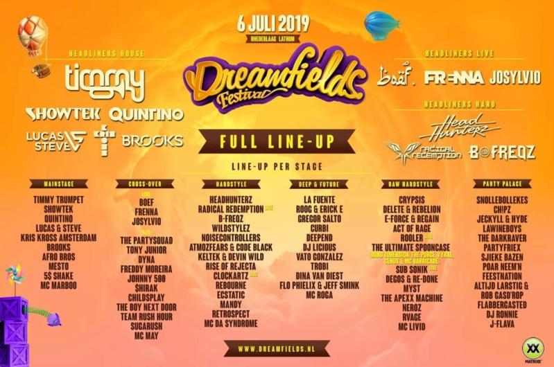 DREAMFIELDS FESTIVAL - samedi 6 Juillet 2019 - Recreatieterrein Rhederlaag, Lathum - NL 54518110