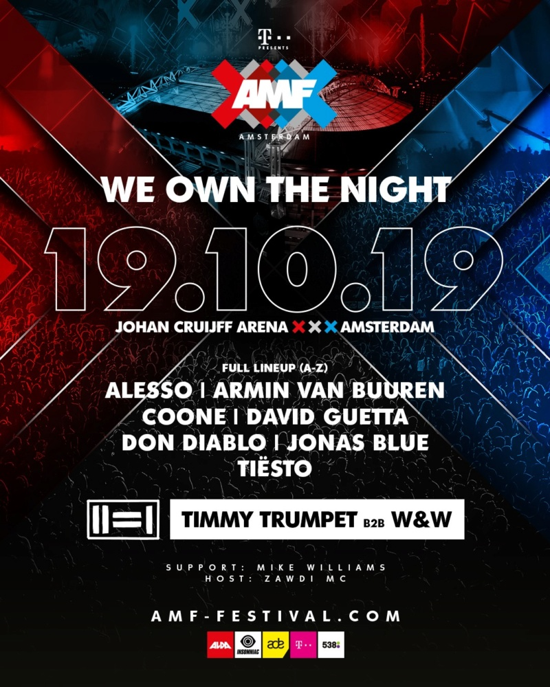 AMSTERDAM MUSIC FESTIVAL - 19 Octobre 2019 - Johan Cruijff ArenA (ex Amsterdam Arena) - NL 69508710
