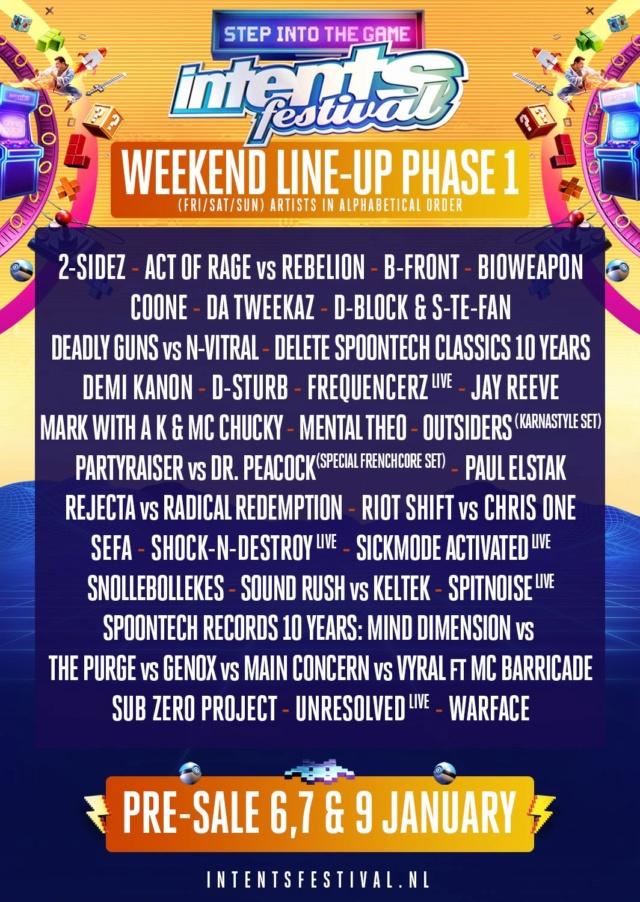 INTENTS FESTIVAL WEEKEND - 5 au 8 Juin 2020 - Oisterwijk (NL) 80520810